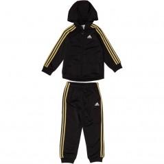 adidas Baby Shiny Jogger Set Black/Gold Metallic