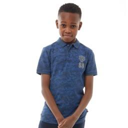 Farah Junior Subtle Camo Polo Dark Denim
