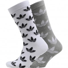 adidas Originals Trefoil Medium Grey Heather/White