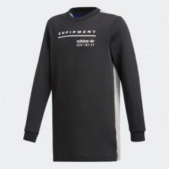 adidas Originals Junior EQT Long SweatBlack/Medium Grey Heather