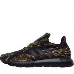 adidas Originals Junior Swift Run Black/Black/Olive Cargo