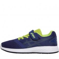 Asics Junior Patriot 10 PS Deep Ocean/Flash Yellow