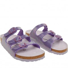 Birkenstock Junior Florida Birko-Flor Sandal Reflection Lilac
