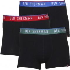 Ben Sherman Conner Boxer Black Green/Blue/Red