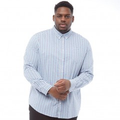 Ben Sherman Plus Size Check Blue