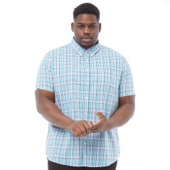Ben Sherman Plus Size Poplin Check Mint