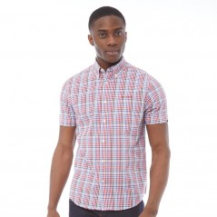 Ben Sherman Poplin Check Red
