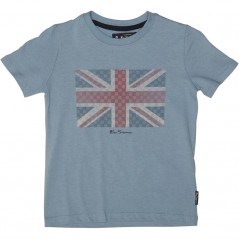Ben Sherman Textured Flag T-Allure Blue