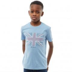 Ben Sherman Junior Textured Flag T-Allure Blue