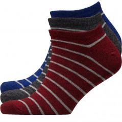 Ben Sherman Our Duke Trainer Liner Red/Blue/Black/Grey Stripes