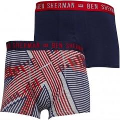 Ben Sherman Bowler Union Jack Print/Navy