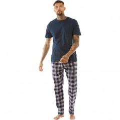 Brave Soul Set Navy/Wine Navy Check