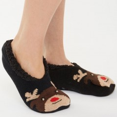 Brave Soul Reindeer Slipper Brown