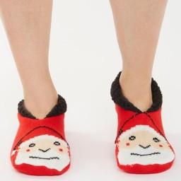 Brave Soul Santa Slipper Red