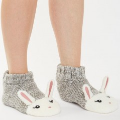 Brave Soul Clare Bunny Slipper Grey