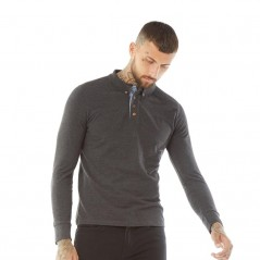 Brave Soul Lincoln Polo Dark Charcoal Marl
