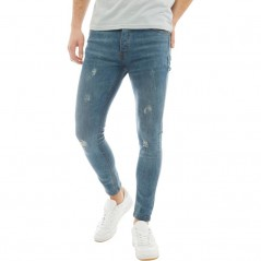 Brave Soul Distressed Skinny Mid Blue