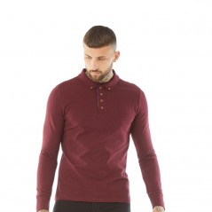 Brave Soul Lincoln Polo Burgundy