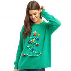 Brave Soul 3D Frill Christmas Tree Green
