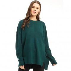 Brave Soul Mosson Loose Split Front Forest Green