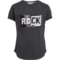 Brave Soul Junior Sequin Rock/Roll T-Grey