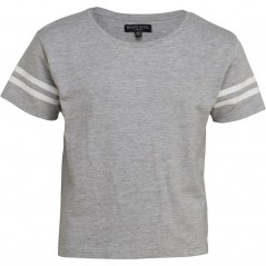Brave Soul Junior StCropped T-Grey