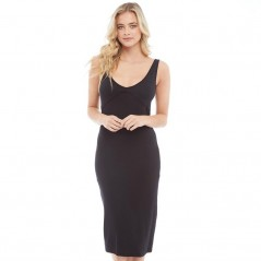 Brave Soul Lilly V-And Back Midi Black