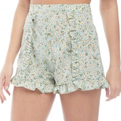 Brave Soul Tropic Floral Ruffle Green Floral