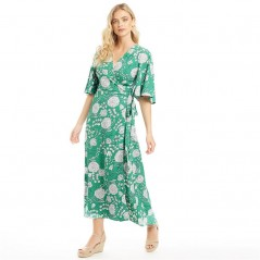 Brave Soul Maxi Grass Green White