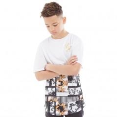 Beck And Hersey Junior Jasper T-White/Black/Gold Foil