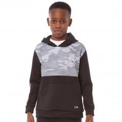Closure London Junior Camo Pull Over Hoodie Black/Grey