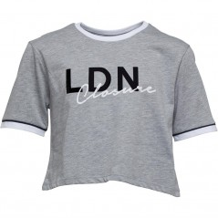 Closure London Junior Cropped T-Grey