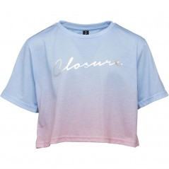 Closure London Junior Cropped T-Blue/Pink