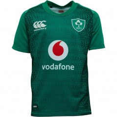 Canterbury Junior Ireland Rugby VapoDri+ Home Jersey Bosphorus