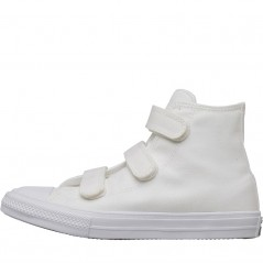 Converse Kids Chuck Taylor All Star II 3V Hi White/White/Navy