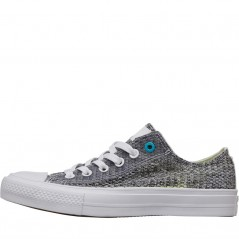 Converse Chuck Taylor All Star II Ox White/Vaporous Grey/Cyan
