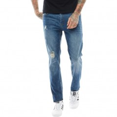 DFND London Dermot Skinny Ripped Midwash