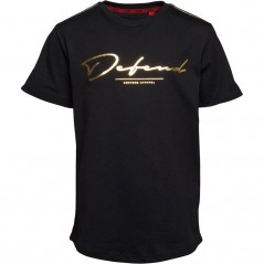 DFND London Taped Cartel T-Black/Gold