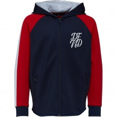 DFND London Flexin Full Hoodie Blue/Red