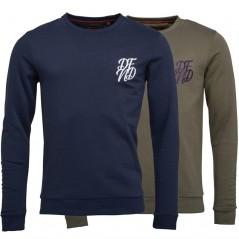 DFND London Wright Sweatshirts Dark Olive/Navy