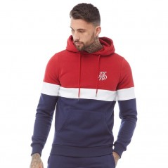DFND London Tricolour Hoodie Red/White/Navy