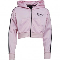 DFND London Junior Castlefield Cropped Hoodie Peach