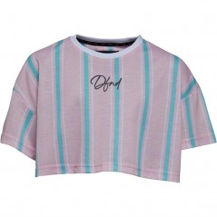DFND London Junior Fallowfield Cropped T-Pink/Blue