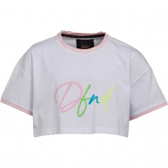 DFND London Junior Eccles Cropped T-White