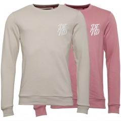 DFND London Wright Sweatshirts Stone & Dusty Pink
