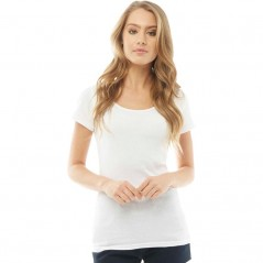 Fluid Ribbed T-White