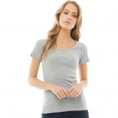 Fluid Ribbed T-Grey Marl