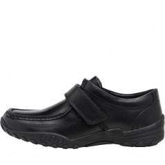 Fluid Junior Leather Velcro Strap Black