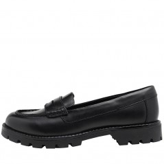 Fluid Junior Leather Cleated Sole Black
