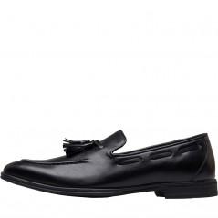 Fluid Tassel Loafer Black